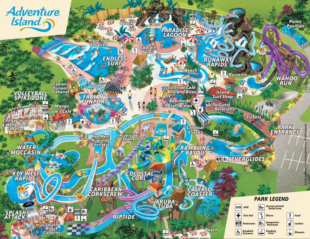 Adventure Island Map Tampa